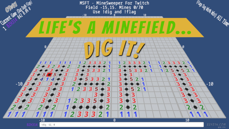 MSFT - MineSweeper For Twitch