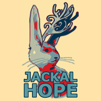 Jackalhope on T-Shirt